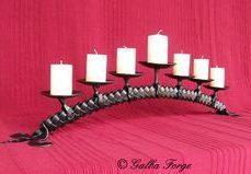 Plaited 7 candles holder