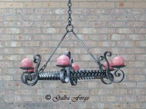chandelier, plaited