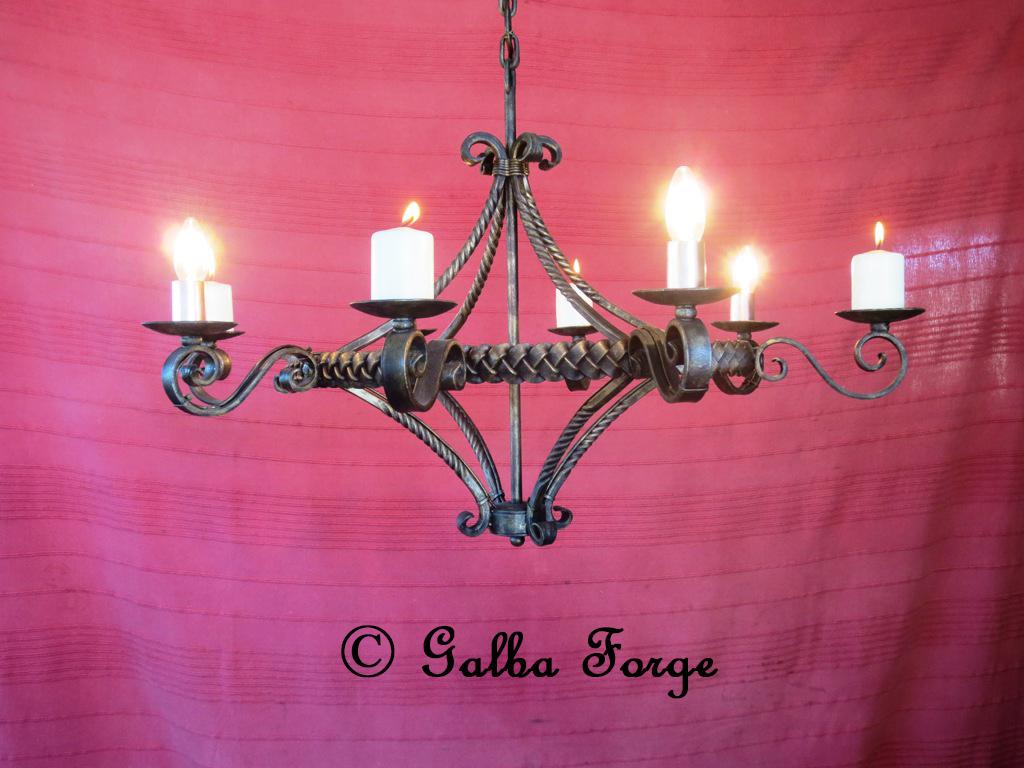 Plaited chandelier Virginia