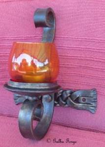 plaited, candle holder